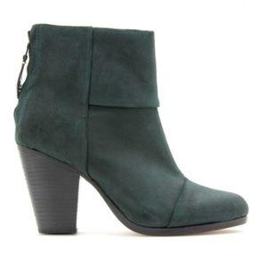 Rag & Bone Green Classic Newbury Boots